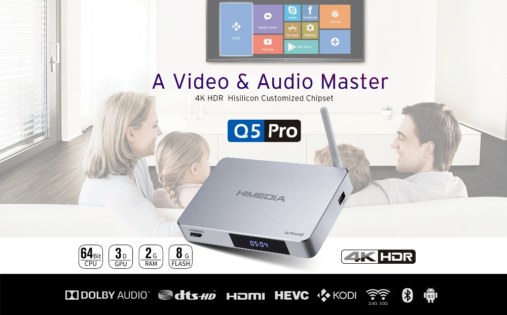 HIMEDIA Q5 PRO HUAWEI HiSilicon HI3798CV200 Android box TV with Android 7.0 kodi Dolby HDR