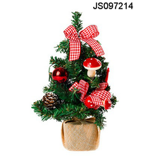 Christmas tree decor with mushroom and bow tie