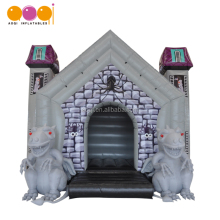 Dinosaur theme inflatable haunted houses bouncer for halloween