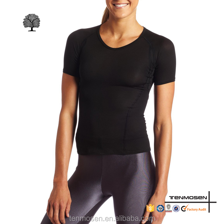 Blank dri fit bodybuilding fitness t shirts wholesale running t-shirt compression sports wear