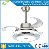 High Quality Retractable Ceiling Fan With LED Lights