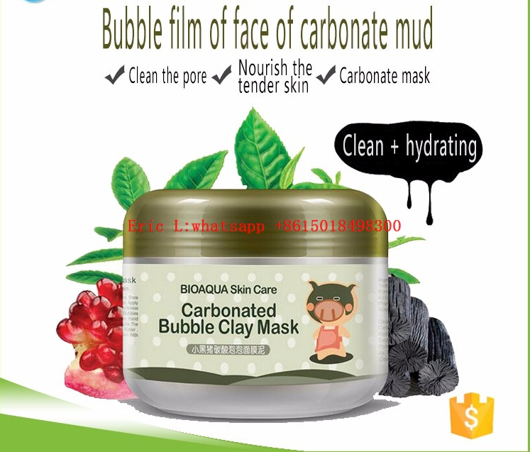 Bioaqua Milky Piggy Carbonated mask factory offers OEM 100g Deep Pore Cleansing Moisturizing Oxygen carbonated bubble clay mask
