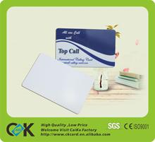 plastic pvc blank cards with chip for 13.56MHz from Shenzhen factory