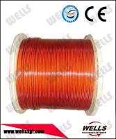 wooden reel packing din3055 7x19 vinyl coated wire rope