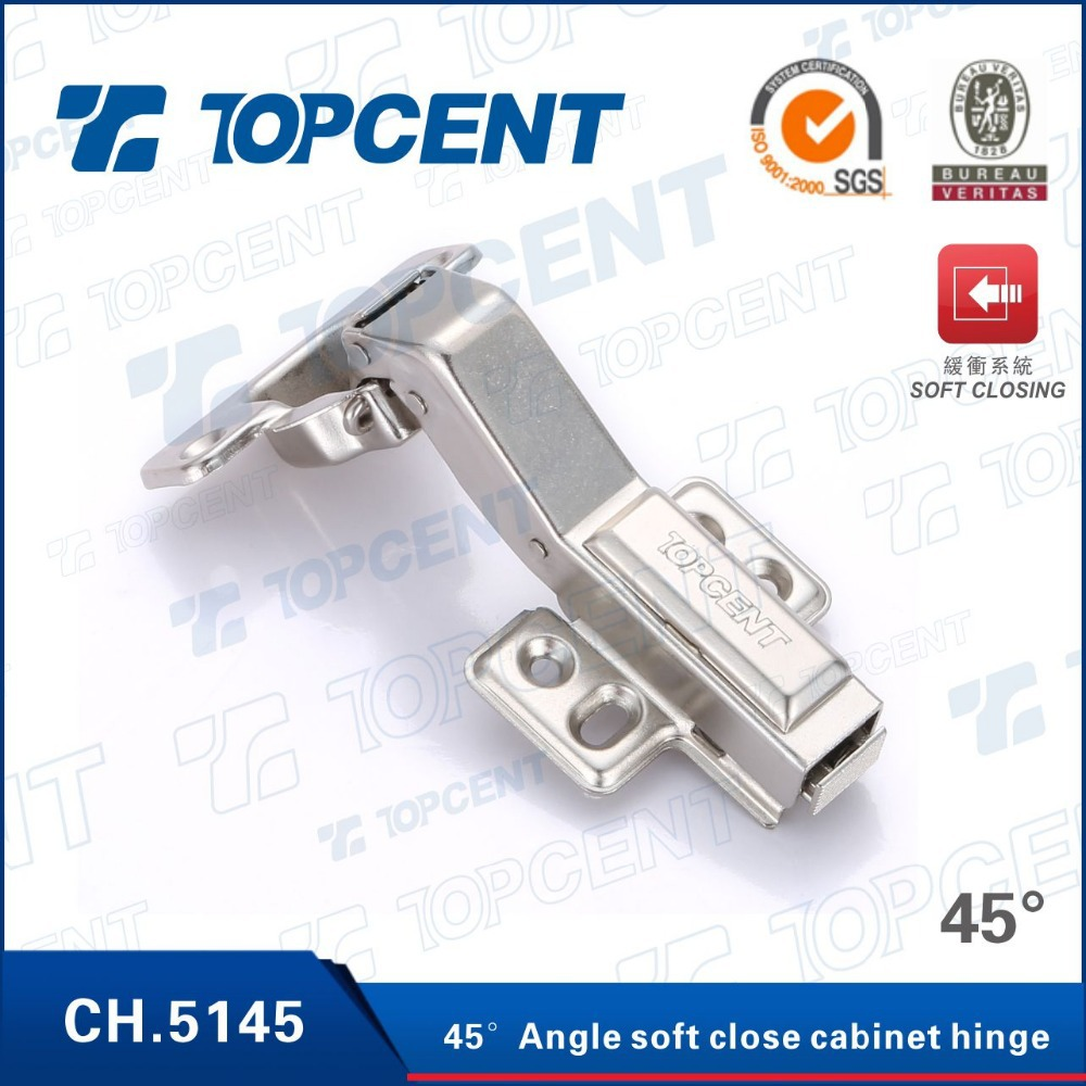 Soft close 45 degree angle corner kitchen cabinet door hinge