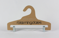 Brand new eco-friendly recyclable cardboard hanger paper hangers Paper hanger for fabric samples design