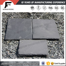 Natural roofing slate in black rusty green color
