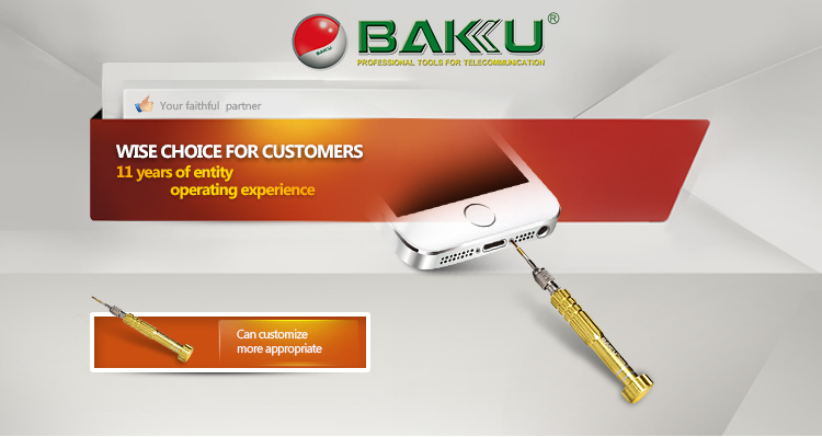BK-3335 BaKu Mini Screwdriver With Precision Screwdriver Bit As Mobile Maintenance Tool
