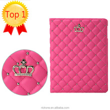 Crown Cover Case for Funda iPad Air 1 Coque Luxury PU Leather Ultra Thin Anti-Dust Case for iPad Air 2 for iPad 2 3 4 Capa Para