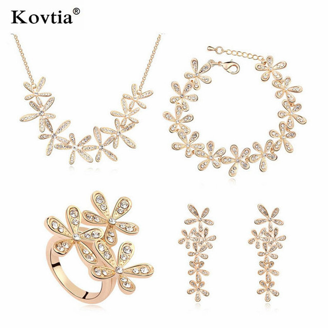 african fashion 2015 real gold 18k trendy jewellery set latest model fashion 585 gold jewelry