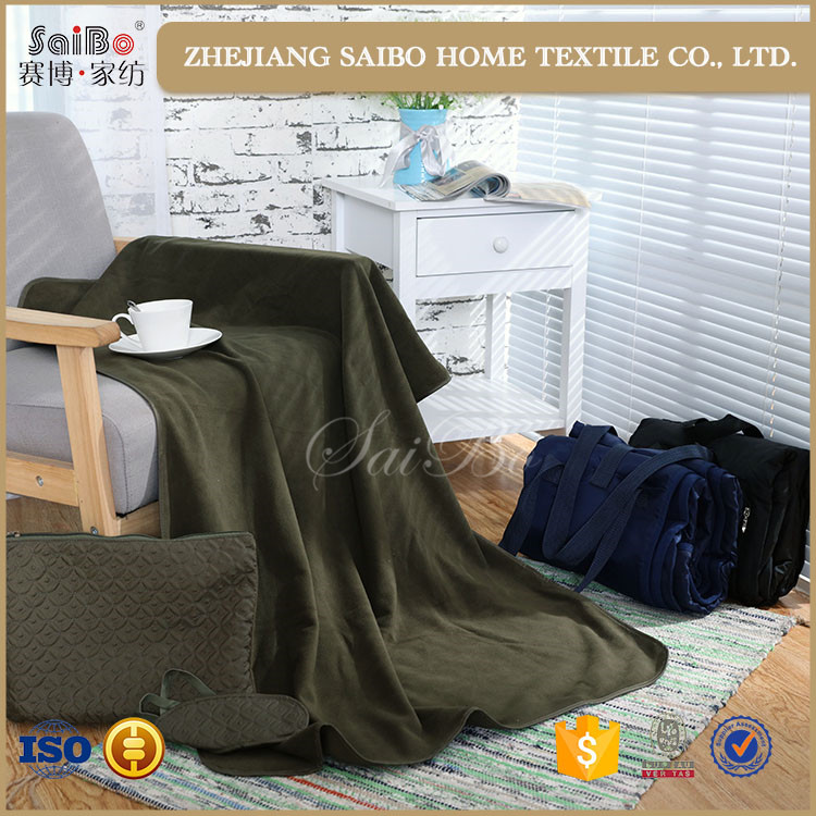 Low price Customized travel kit blanket pillow