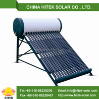 Compact pool heater solar collectors