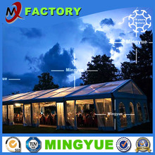 Hot sale cheap 1000 people outdoor Waterproof large event marquee wedding party tent with Clear glass roof