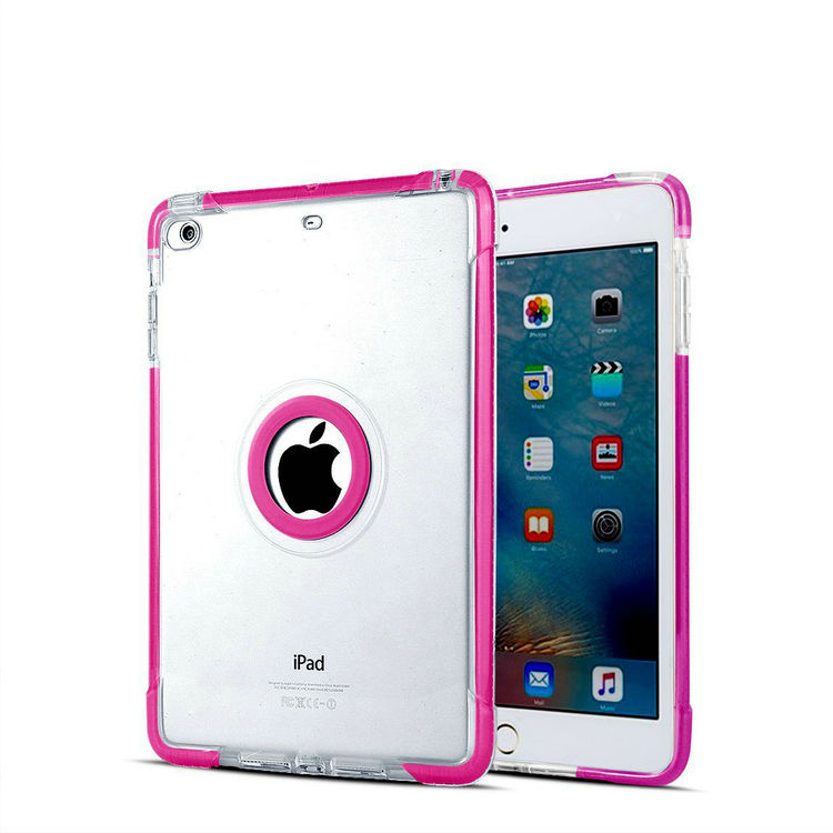 Simple Style Slim Semi Transparent TPU Case For iPad Mini