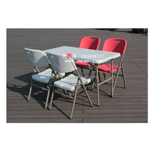 Garden furniture outdoor picnic plastic folding party tables and chairs