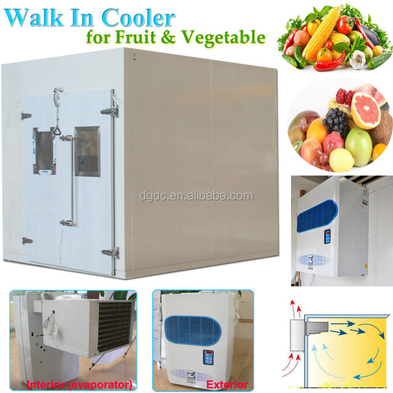 Supermarket Walk In Cooler for Vegetable and Fruit