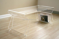 Clear high quality curved acrylic luxury console table