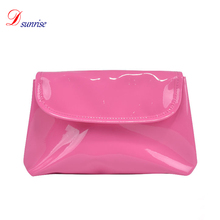 Fashionable magnetic beauty hard case rose red cosmetic travel bag