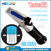 Protable Oe refractometer for determine the content of sugar in grapes and grape juice (mash).