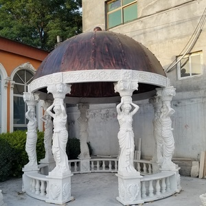 Hot Sale Stone carving Marble Pavilion in Gazebos with women