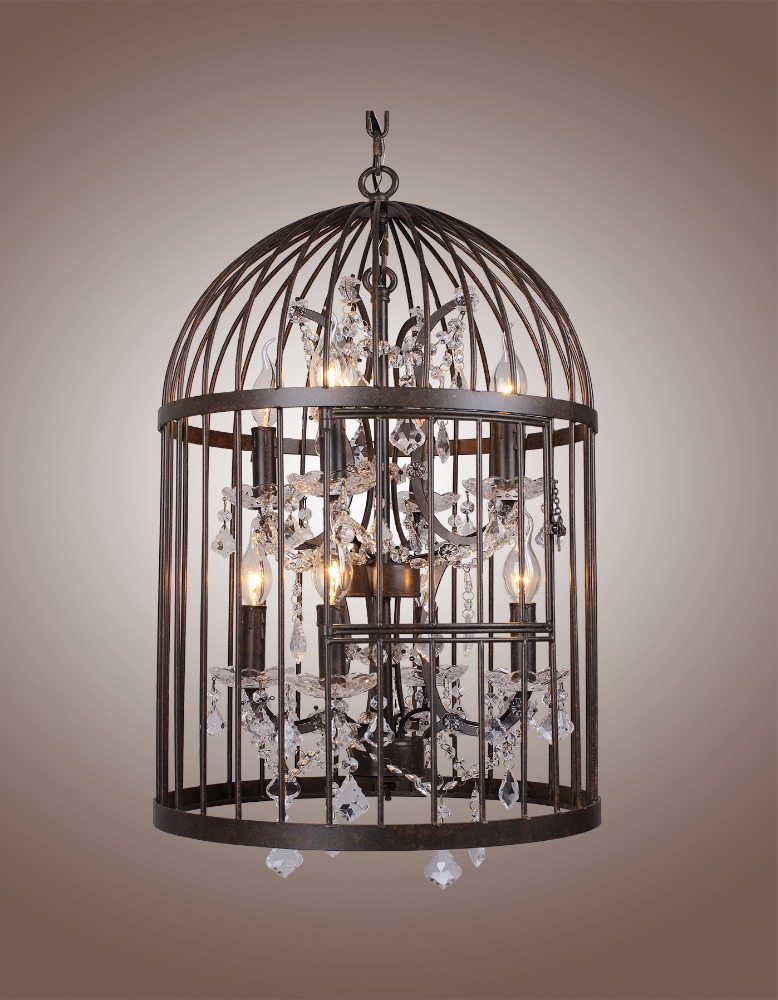 MC2079-4+4 Medium Size Birdcage Maria Theresa Antique Furniture Crystal Lighting Chandelier