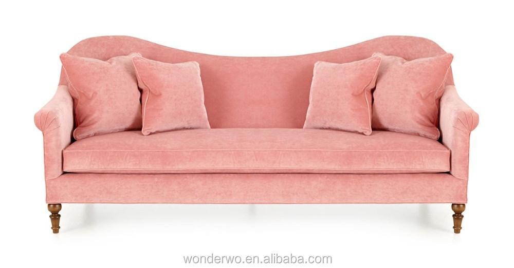 Cerise Velvet Sofa scallop-back transitional sofa hotel modern ...