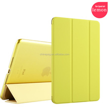 custom design pure color pu leather case for ipad air cover for ipad 5 case