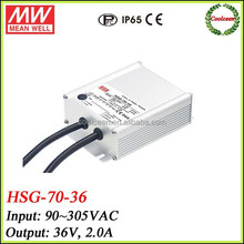 Mean Well ip65 led driver HSG-70-36