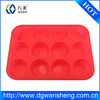 12 Cup Silicone Pan for Cupcakes and Premium Baking- Non Stick Tray