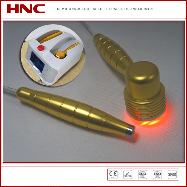 650nm and 808nm low level laser wound healing machine with two probes for healthcare