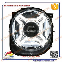 For Jeep Renegade 2016 LED Head Light Black & Silver Housing Faros LED