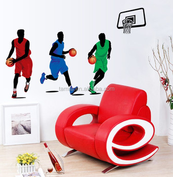 Basketball Player Dunk Sports Vinyl Decal Basketball Wall Home Room Decor DIY Wall Sticker Decor Kids Bedroom Set Art Mural