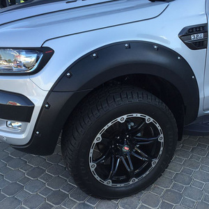 For Ford Ranger T7 2016 4x4 Accessories ABS Bushwacker Matte Black Fender Flares