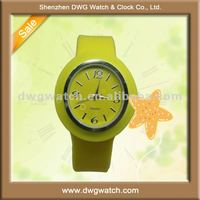 Welcome odm jelly silicone watch with customized face DWG-R0027