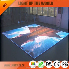 P5 3d floor tile interactive wall in LED display with unlimited effect
