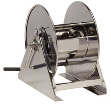 China Retractable Manual Spring Rewind Stainless Steel Hose Reel
