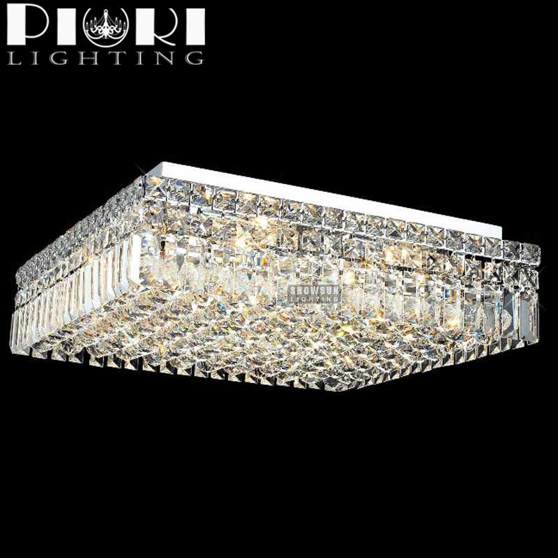 Wholesale chrome square modern crystal chandelier