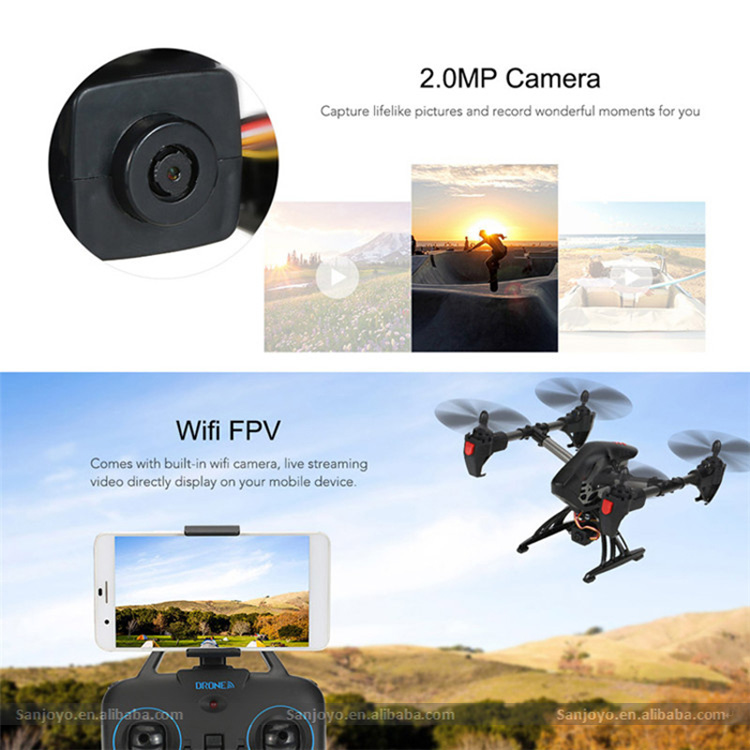 2.4G 4CH Professional Drone With Wifi FPV HD Camera Real Time RC Drone Attitude Hold Quadcopter SJY-JY011