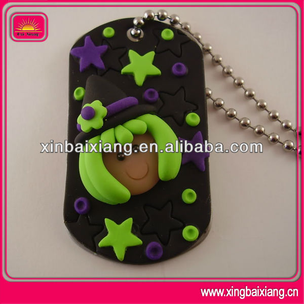 High quality custom plastic military dog tag necklace