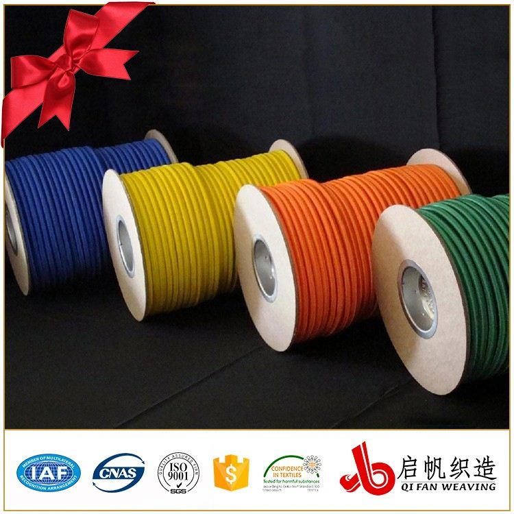 Round elastic stretch string rubber rope for garment sewing