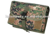 Camo Tactical Web Gas Mask Bag