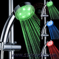 Temperature detectable Light Color LED lamp Shower Head