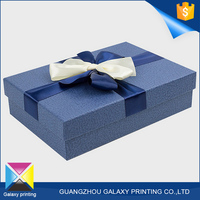 Practical and beautiful hot elegant handkerchief bow tie gift packaging paper box