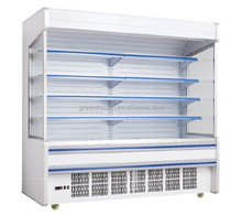 Dependable performance supermarket portable refrigerated display cooler for drinks/fruits/vegetable