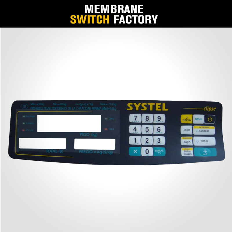 push button membrane switch panel resistive touch screen overlay switch membrane