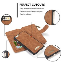 Wholesale hot Selling multi-functional retro detachable wallet leather phone case for iPhone 6 6plus case