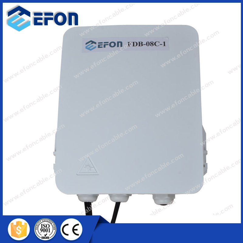 outdoor ftth 8 core optical distribution box for pole mount