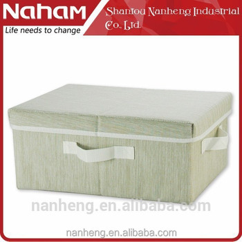 NAHAM home decoration Collapsible Fabric Storage Boxes With Lid