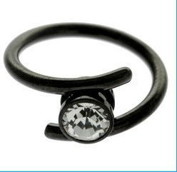BLACKLINE GRIPPER RING-GEM CRYSTAL IN BODY PIERCING
