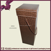 Custom Printed Promotional Paper Cardboard Wine Box With Handle